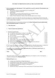 Clinical Trials-Questionnaire - University of Birmingham