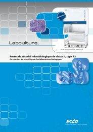 Postes de sécurité microbiologique de classe II, type A2 - Esco
