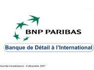 Présentation Générale - BNP Paribas