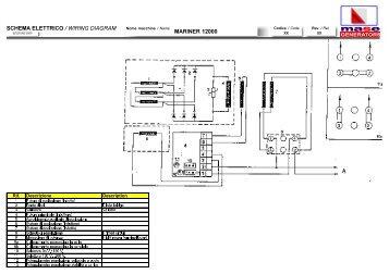 schema elettrico wiring diagram is 9000 9501 mase generators of rh yumpu com 3 Phase Generator Wiring Diagram 6 Volt Generator Wiring Diagram