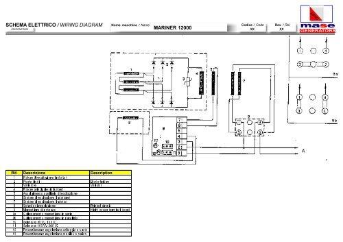 schema elettrico wiring diagram mariner 12000 mase generatorsschema  elettrico wiring diagram mariner 12000 mase generators