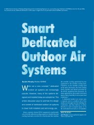 While not a new concept,1 dedicated outdoor air systems  are - Trane