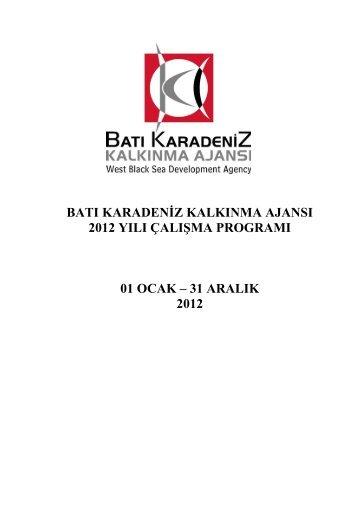 31 aralık 2012 - Batı Karadeniz Kalkınma Ajansı