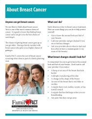 About Breast Cancer - Family PACT
