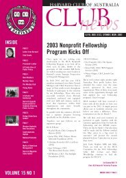 March 2003 - Harvard Club of Australia