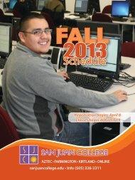 Download Fall 2013 Schedule - San Juan College