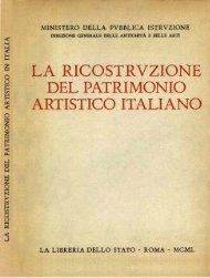 La Ricostruzione del Patrimonio Artistico Italiano - Bollettino d'Arte
