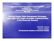 Reverse Supply Chain Management Strategies. Lean, Agile ... - ecr-uvt