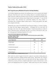 Market Outlook [December 2011] - Packaged Facts