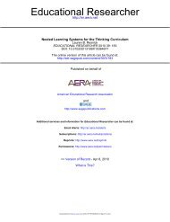 Nested Learning Systems for the Thinking Curriculum