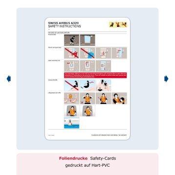 Foliendrucke Safety-Cards gedruckt auf Hart-Pvc