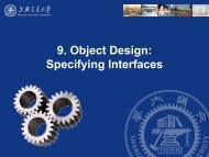 9. Object Design: Specifying Interfaces