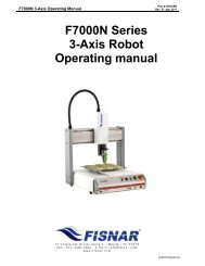 Operating Manual - Fisnar