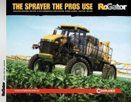 RoGator Self Propelled Sprayers Product Information (4634 ... - Fatcow