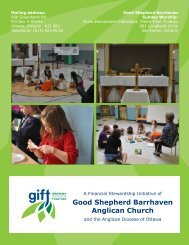 Good Shepherd Barrhaven - Growing in Faith Together