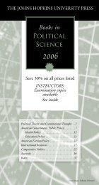 Books in Political Science - The Johns Hopkins University Press