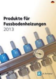 Produkte für Fussbodenheizungen 2013