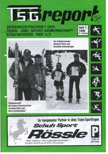 Heft 1 1996 - bei der TSG Stadtbergen