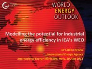 Modelling the Potential for Industrial Energy Efficiency in IEA's World ...
