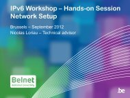 IPv6 is launched - Belnet - Events