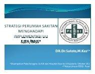 Strategi Perumah Sakitan Menghadapi Implementasi UU SJSN/ BPJS