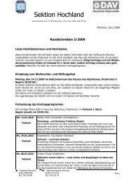 Rundschreiben 3/2009 - Sektion Hochland