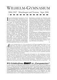 """""""Mitteilungen und Termine 2006/2007"""" der Schulleitung (pdf)"""