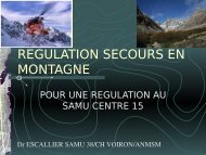 Pour une régulation au centre 15Dr C. Escallier - Association ...