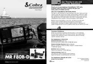 MR F80B-D - Cobra Electronics
