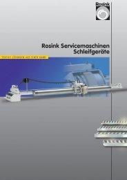 Rosink Servicemaschinen Schleifgeräte