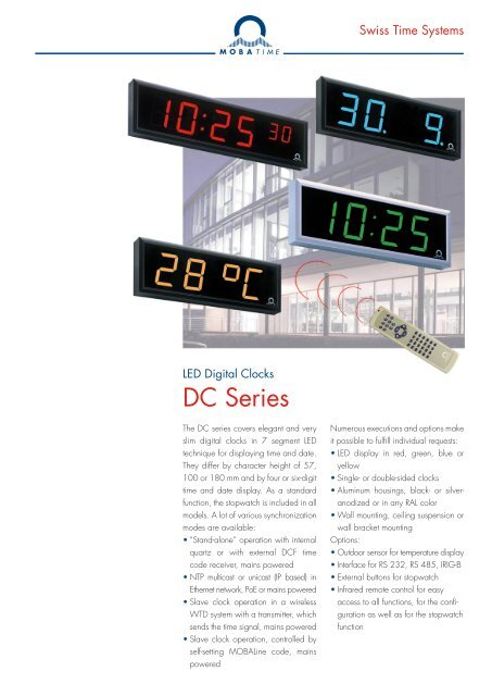925209796c51 DC Series - MOBATIME Swiss Time Systems