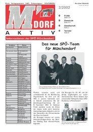 Das neue SPÖ-Team für Münchendorf 2/2002 - SPÖ Münchendorf