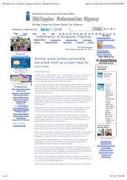 PIA daily news in English, Tagalog, Cebuano, Hiligaynon, Ilocano ...