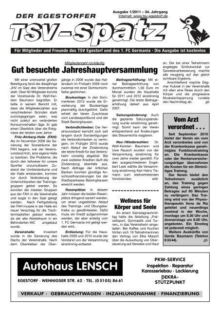 Autohaus LENSCH - TSV-Egestorf