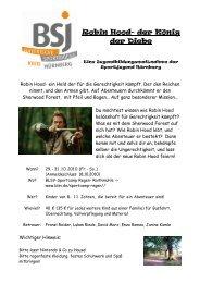 Robin Hood - Bayerische Sportjugend BSJ - Kreis Nürnberg