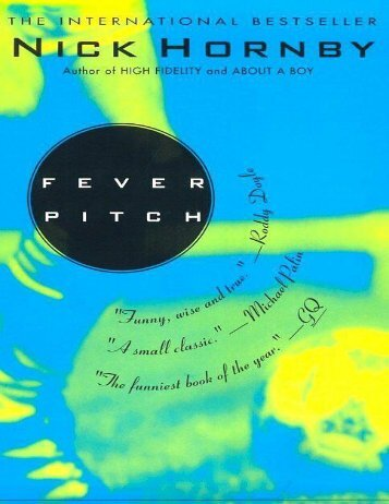 v  Hornby  Nick - Fever Pitch