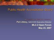 Public Health Accreditation Board - National Network of Public ...