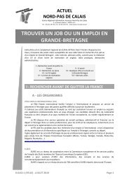 8.6162.1 Trouver un job en GB - CRIJ Nord-Pas de Calais