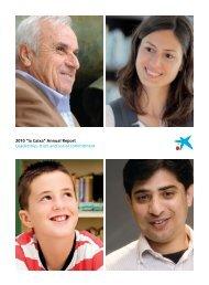 """2010 """"la Caixa"""" Annual Report"""