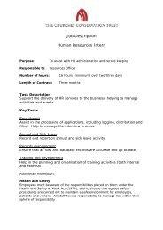 Job Description Human Resources Intern - The Churches ...