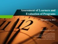 Assessment of Learners and Evaluation of Programs