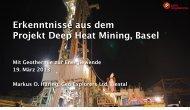 Erkenntnisse aus dem Projekt Deep Heat Mining, Basel