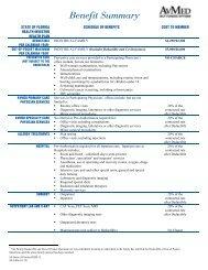 Benefit Summary - AvMed