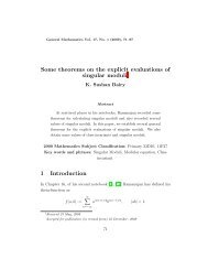 Some theorems on the explicit evaluations of singular moduli