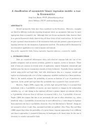 A classification of asymmetric binary regression models: a case in ...