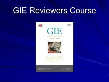 GIE Reviewers Course