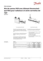 Kits de vannes VHX avec élément thermostati- que RAX pour ...