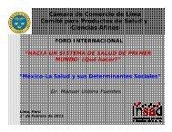 Señor Manuel Urbina, Investigador Principal en Salud - Cámara de ...