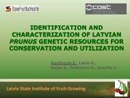 Prunus genetic resources in Latvia - Cost 873