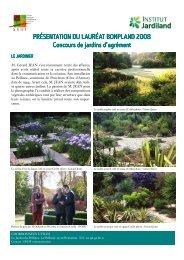 Les jardins du Pellinec, lauréat 2008 - Société Nationale d ...